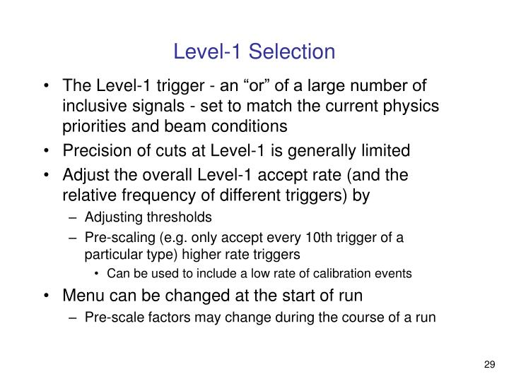 Level-1 Selection