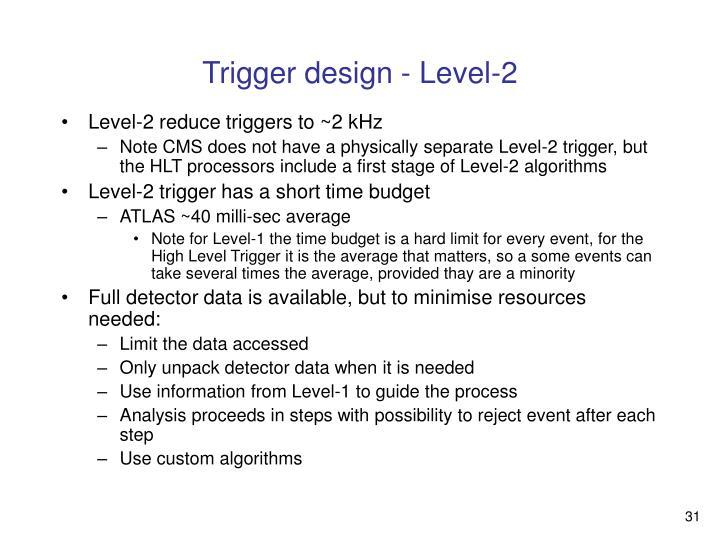 Trigger design - Level-2