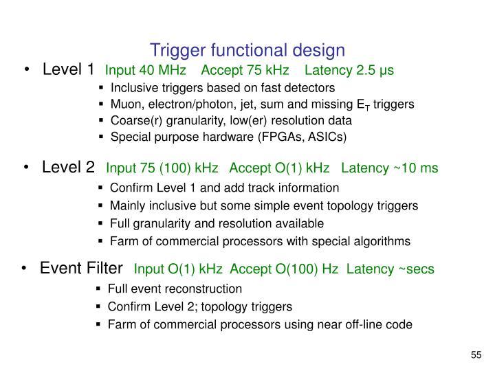 Trigger functional design