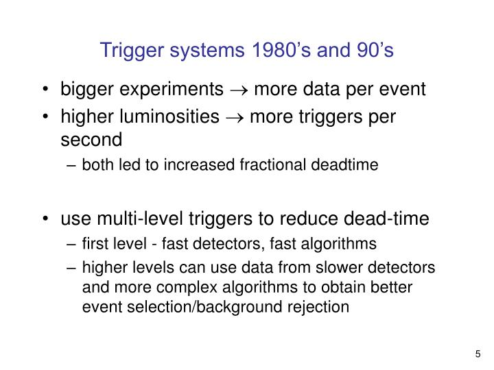 Trigger systems 1980's and 90's