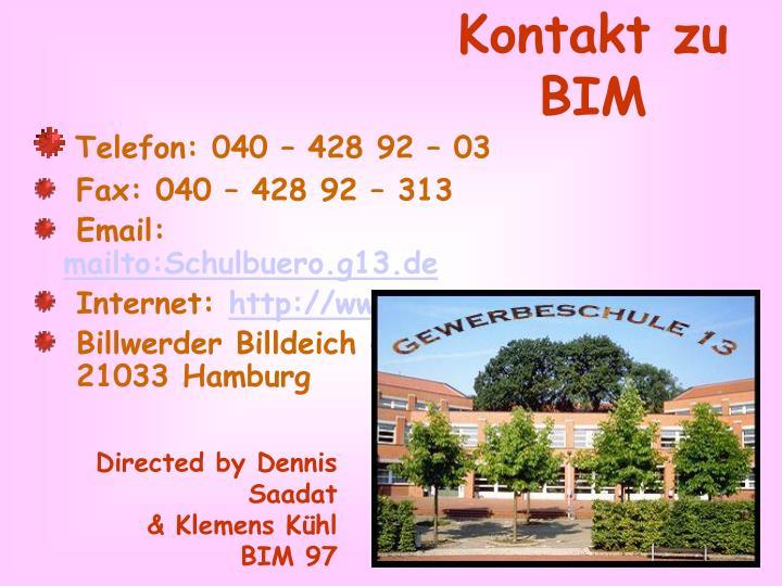 Kontakt zu BIM