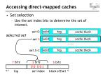 accessing d irect m apped c aches