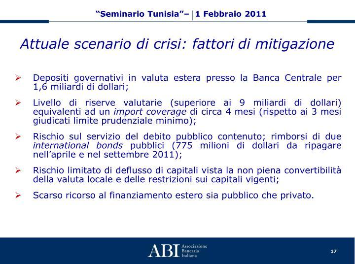 Attuale scenario di crisi: fattori