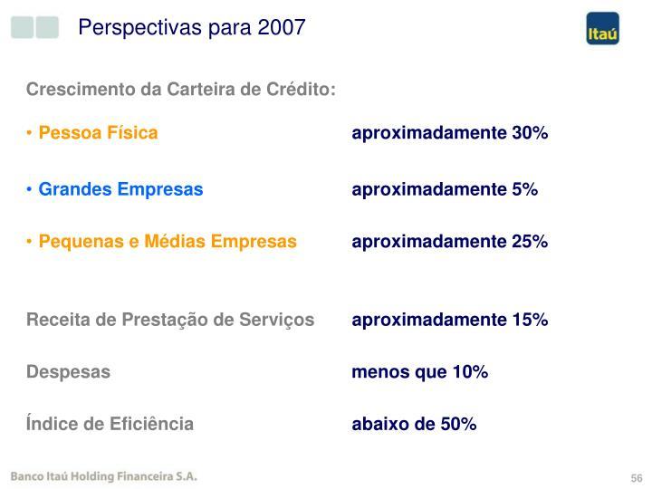 Perspectivas para 2007
