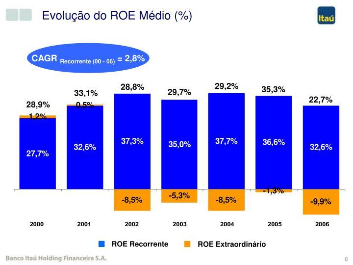 Evolução do ROE Médio (%)