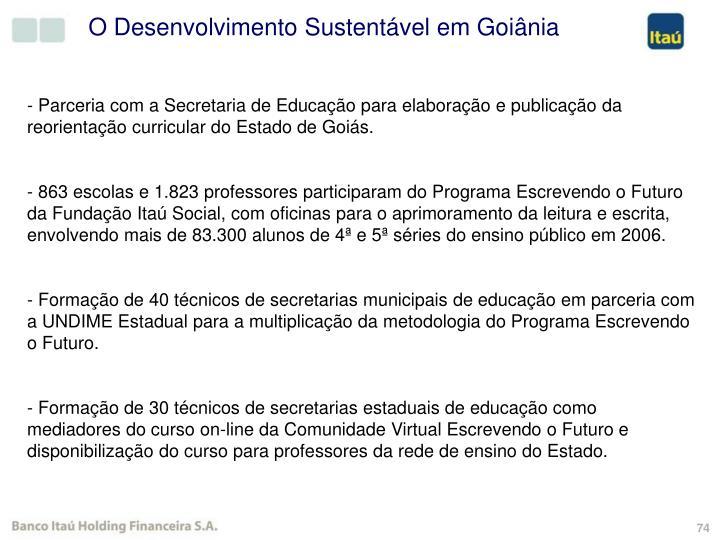O Desenvolvimento Sustentável em Goiânia