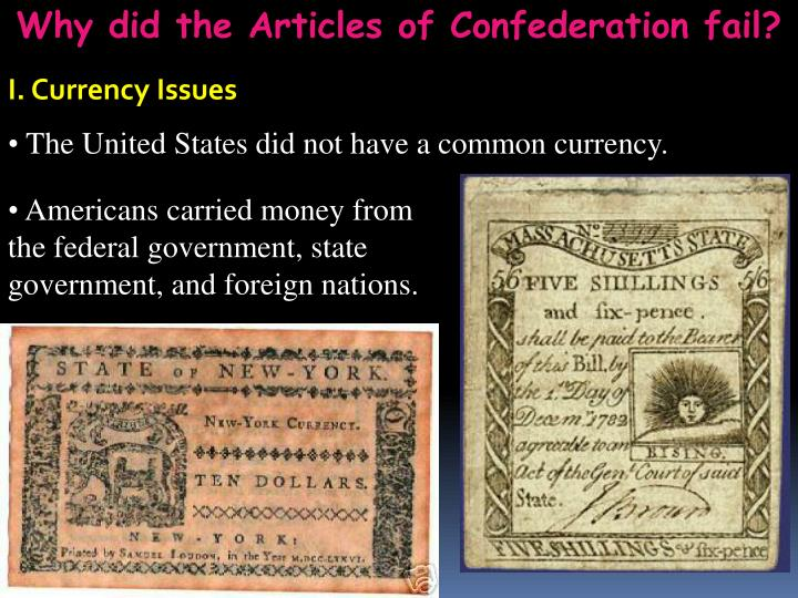 why did the articles of confederation fail Free why did the article of confederation fail  after some of the states realized that the articles of confederation did not adequately resolve the national.