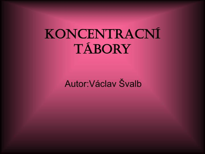 Koncentracn t bory