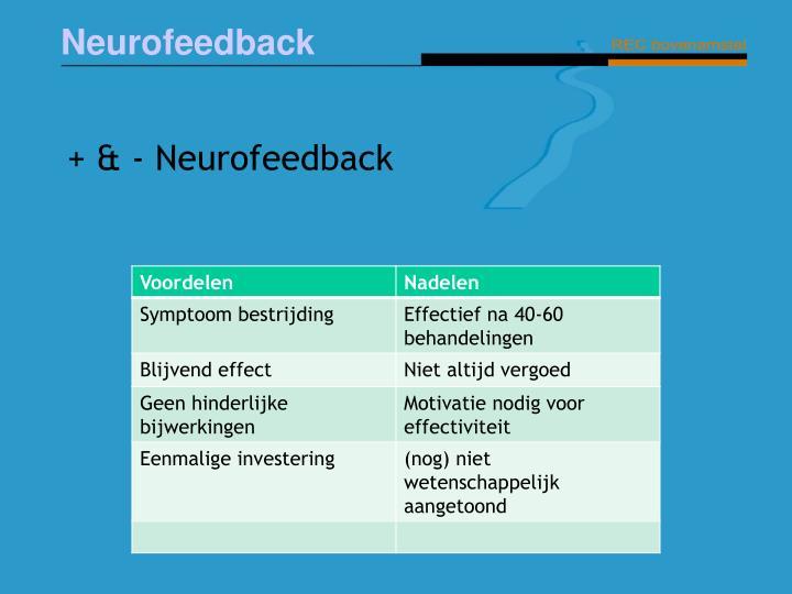 + & - Neurofeedback