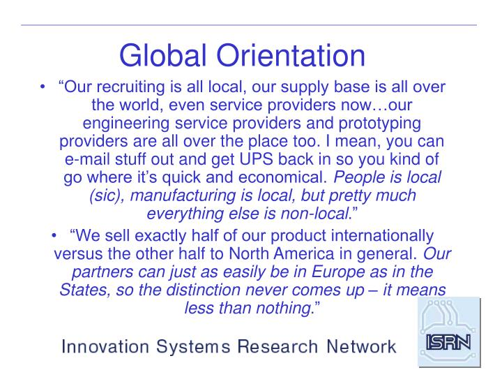 Global Orientation