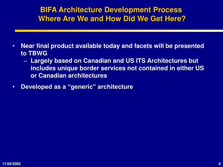BIFA Architecture Development Process