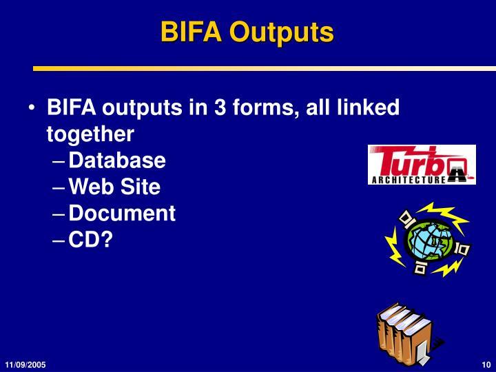 BIFA Outputs