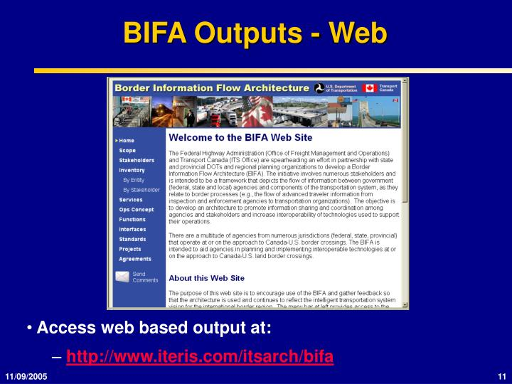 BIFA Outputs - Web