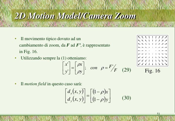 2D Motion Model/Camera Zoom