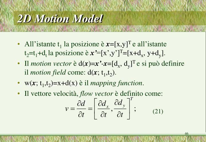 2D Motion Model