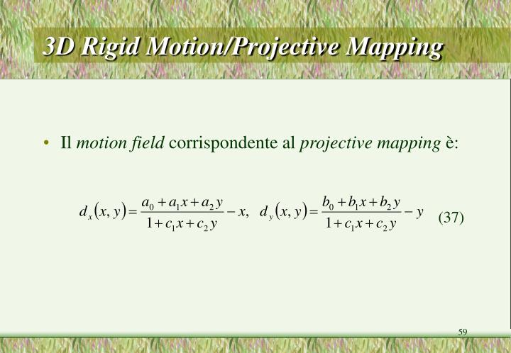 3D Rigid Motion/Projective Mapping