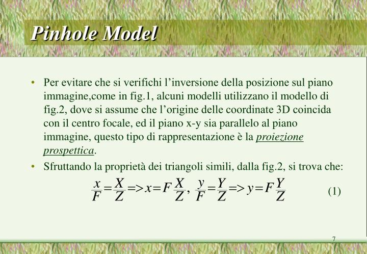 Pinhole Model