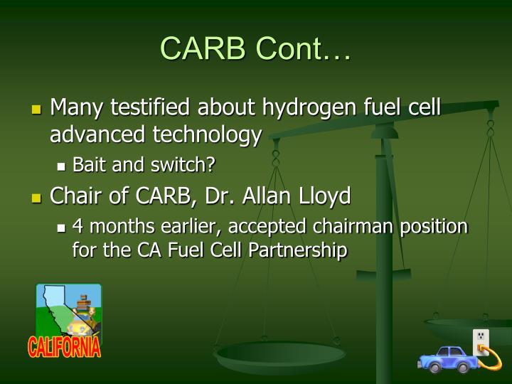 CARB Cont…