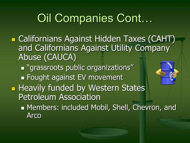 Oil Companies Cont…