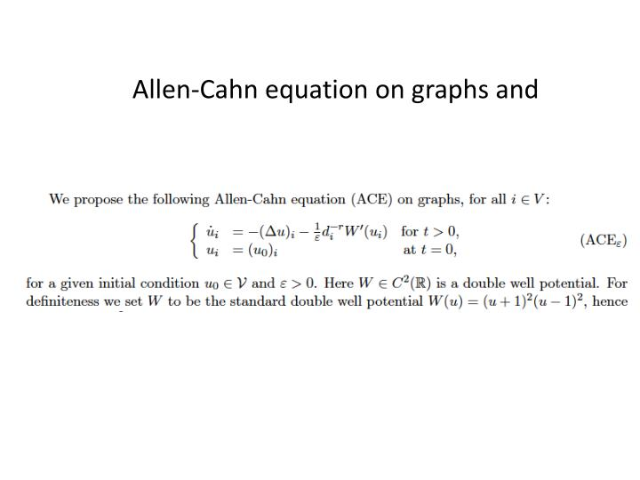 Allen-Cahn equation on graphs and