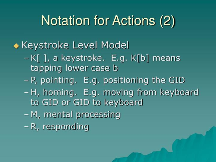 Notation for Actions (2)