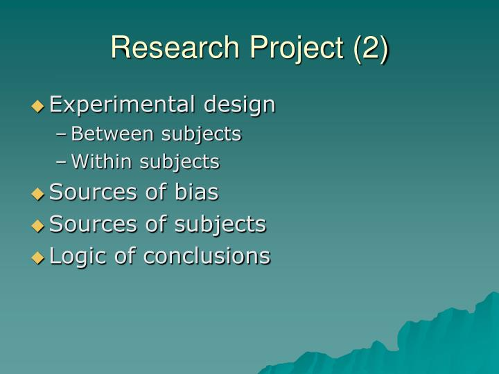 Research Project (2)