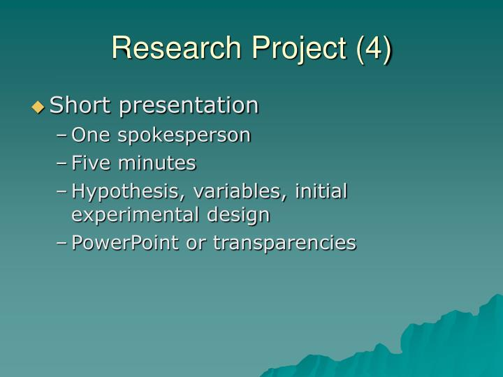 Research Project (4)