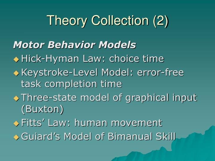 Theory Collection (2)