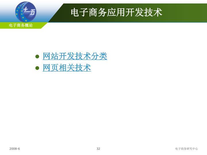 电子商务应用开发技术