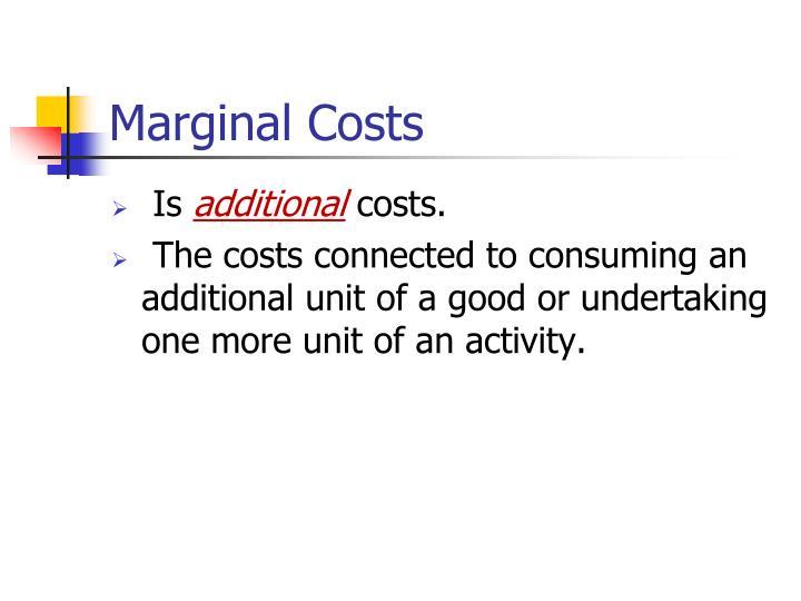 Marginal Costs