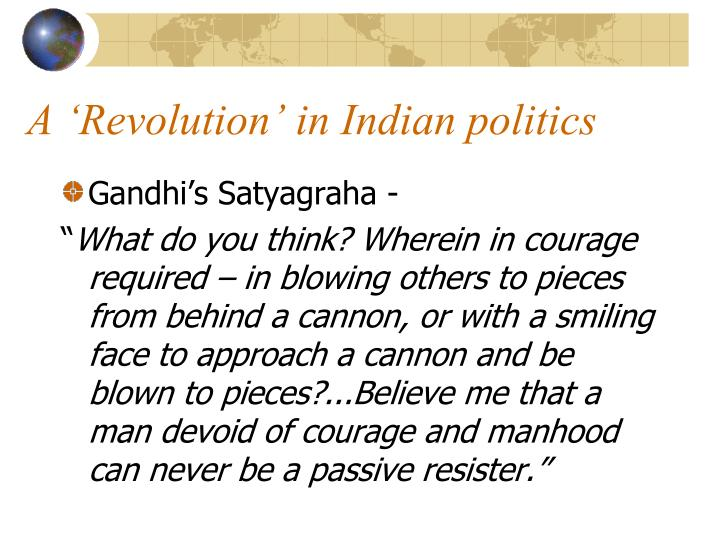 A 'Revolution' in Indian politics