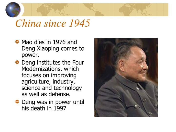 China since 1945
