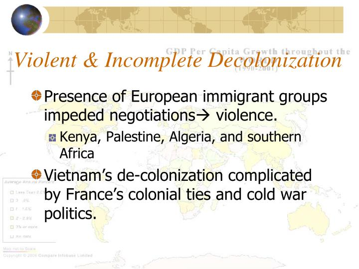 Violent & Incomplete Decolonization