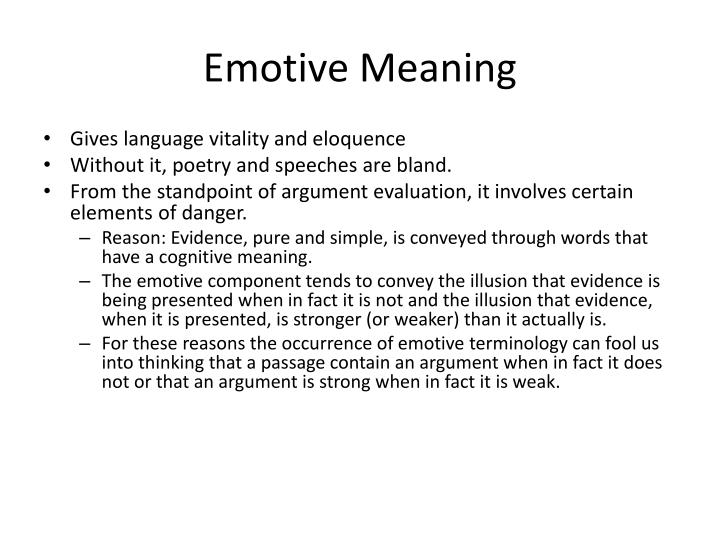 Emotive Meaning
