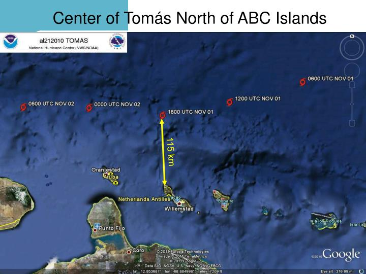 Center of Tomás North of ABC Islands
