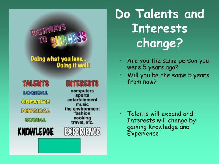 Do Talents and Interests change?
