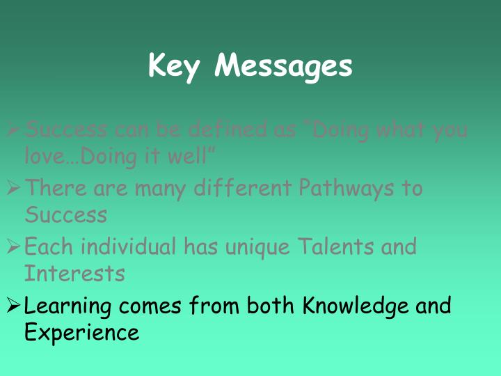 Key Messages