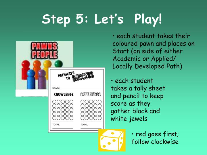 Step 5: Let's  Play!