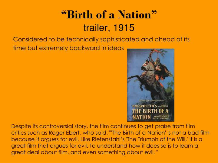 """Birth of a Nation"""