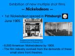 exhibition of new multiple shot films nickelodeons1
