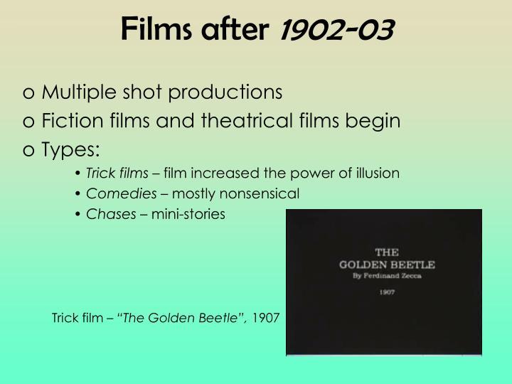 Films after