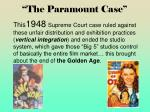 the paramount case
