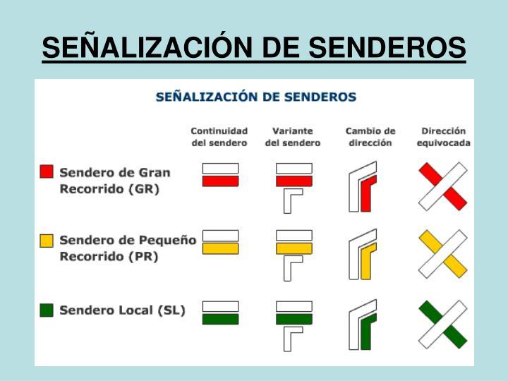 SEÑALIZACIÓN DE SENDEROS
