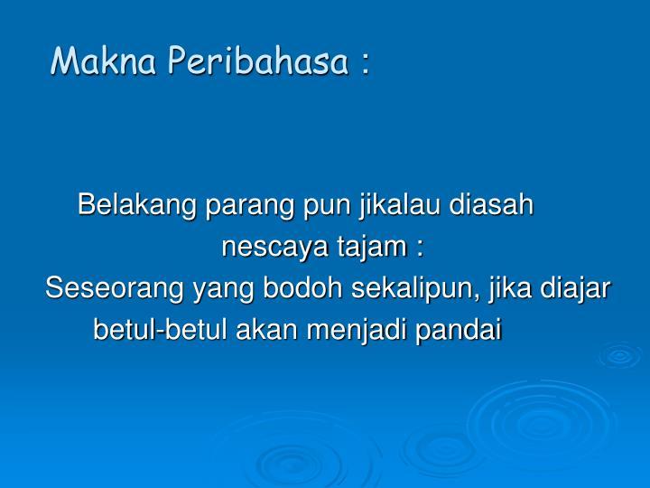 Makna Peribahasa