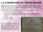 1 2 2 cronolog a del poema arrabal