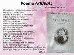 poema arrabal