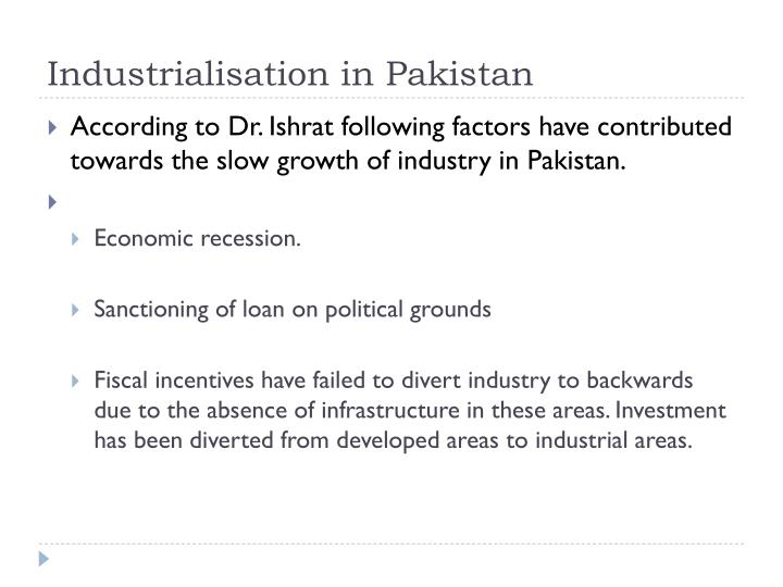 Industrialisation in Pakistan
