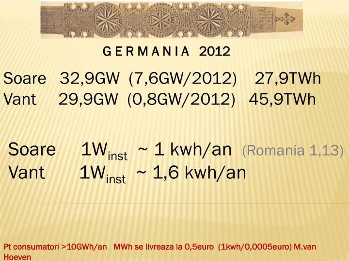 G E R M A N I A   2012