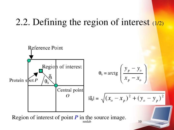 2.2. Defining the region of interest