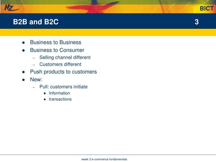 B2B and B2C